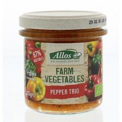 Farm vegetables paprika trio