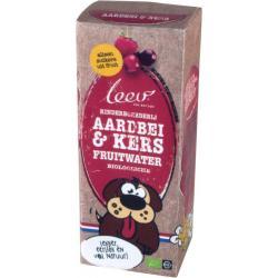 Fruitwater aardbei/kers bio 200 ml