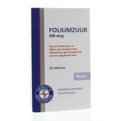 Foliumzuur 500 mcg
