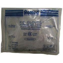 Polyester handschoen glad dik