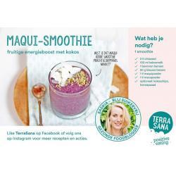Receptkaart A5 maqui smoothie