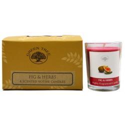 Geurkaars figs & herbs votives