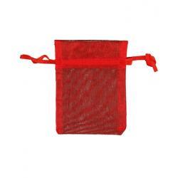 Organza buidel 9x12 rood