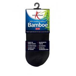 Bamboe enkelsok zwart 43-46