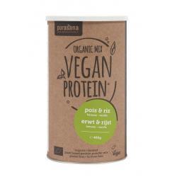 Vegan erwt & rijst proteine mix banaan vanille bio