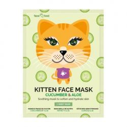 Kitten sheet face mask cucumber & aloe