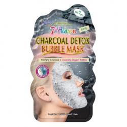 7th Heaven face mask charcoal detox bubble sheet