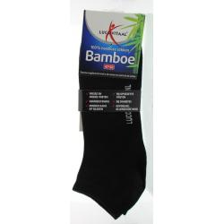Bamboe enkelsok zwart 47-50