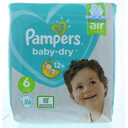 Baby dry luiers S6 midpak+