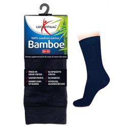 Bamboe sok lang blauw 35-38