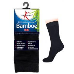 Bamboe sok lang zwart 43-46