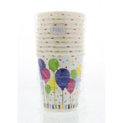 Bekers ballon & confetti 20cl