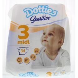 Sensitive baby luiers midi 3