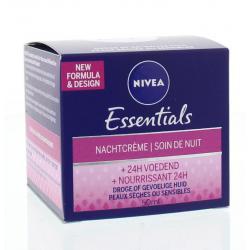Essentials nachtcreme droge/gevoelige huid