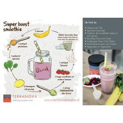 Life drink ansichtkaart met smoothie recept