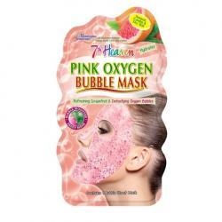 7th Heaven face mask pink oxygen bubble sheet