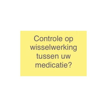 Controle op wisselwerkingen tussen vitamines en geneesmiddelen