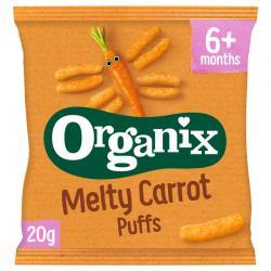 Melty corn puffs carrot 6+ maanden bio