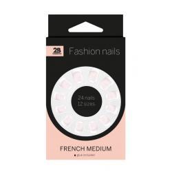 Nails french medium