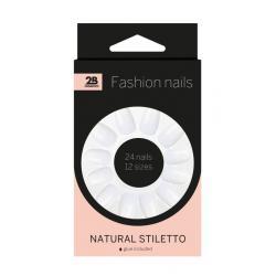 Nails natural stiletto