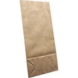 Bruine zak nummer 2 gevoerd