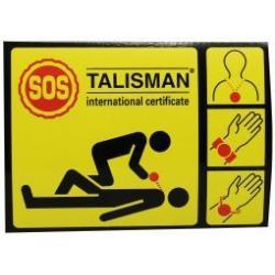 SOS gele sticker los