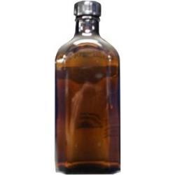 Flesje plat met dop bruin