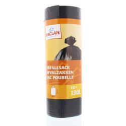 Huisvuil/afvalzak donker grijs 130 liter