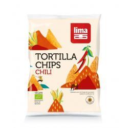 Tortilla chips chili bio
