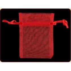 Organza buidel rood