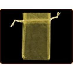 Organza griffelbuidel goud