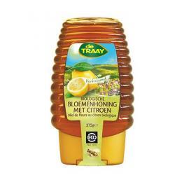 Bloemen honing met citroen knijpfles