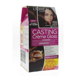 Casting creme gloss 432 Midden goud parelmoerbruin