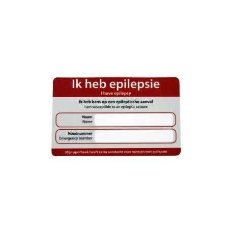 Epilepsie noodkaart