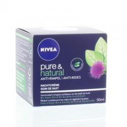Pure & natural anti age night cream