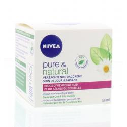 Pure & natural dagcreme droge huid