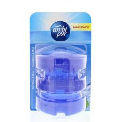 Flush fresh water & mint refill