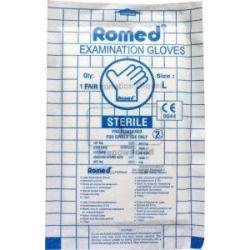 Latex handschoen steriel L