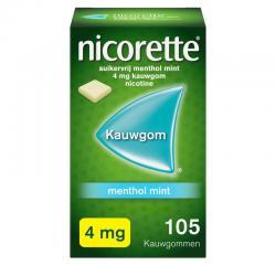 Nicorette kauwgom 4mg menthol mint