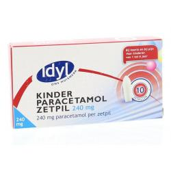 Paracetamol kind 240 mg zetpil