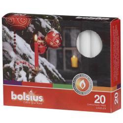 Bolsius kerstb kaars 97/13 wit