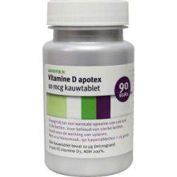 vit d fruit 10mcg kauw Apotex@