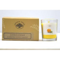 geurkaars citrus cedar votives
