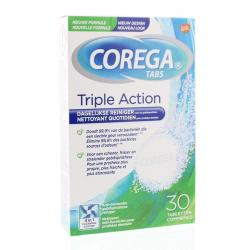 Corega tabs triple action