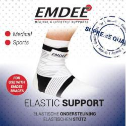 Elastische band knie bovenbeen 5 x 60 cm wit