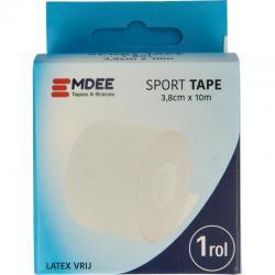 Sport tape 3.8 cm x 10 cm wit