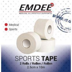Sport tape 2.5 cm x 10 meter wit
