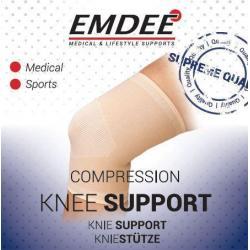 Elastische ondersteuning knie huidkleur maat M