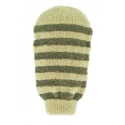 Massage handschoen gestreept linnen / katoen