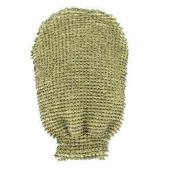 Massage handschoen grof linnen / katoen